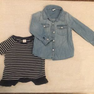 2T Gap Short Sleeve and Long Sleeve